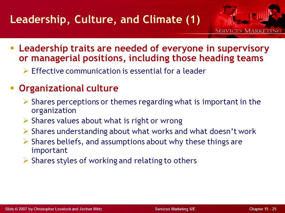 Leadership, Culture, and Climate (1)