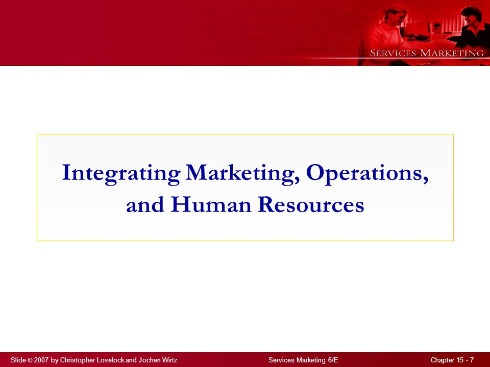 Integrating Marketing, Operations, and Human Resources