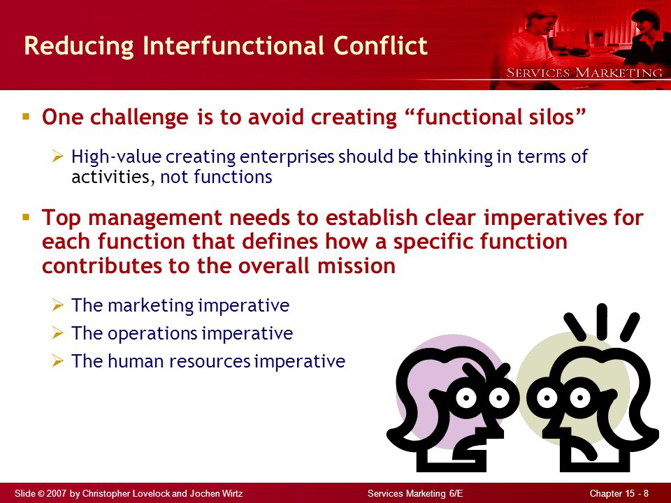 Reducing Interfunctional Conflict