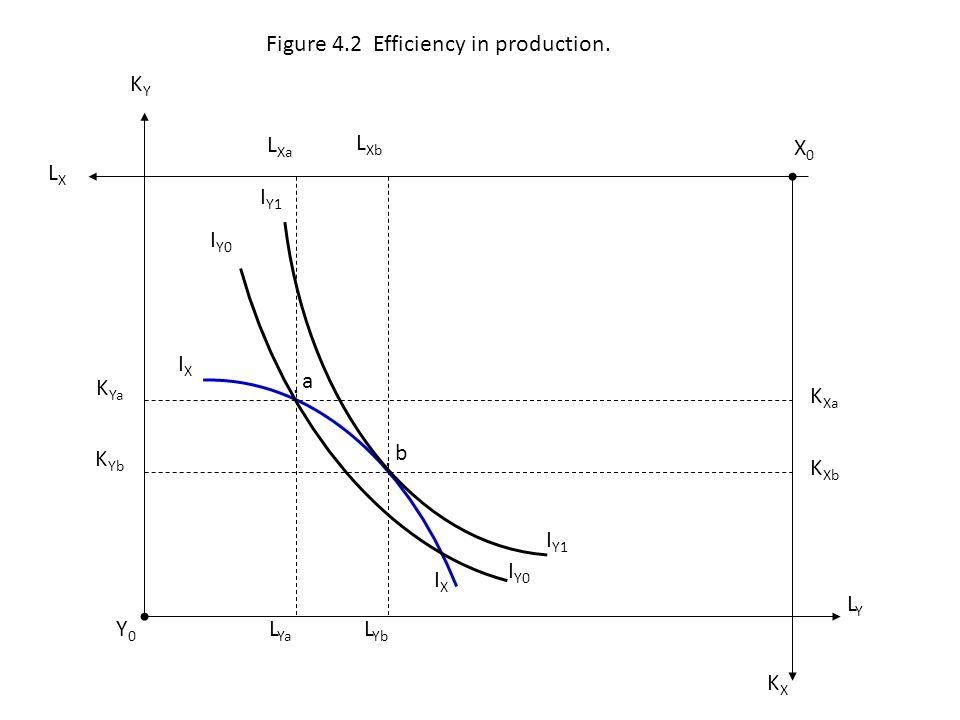 Figure 4.2 Efficiency in production.
