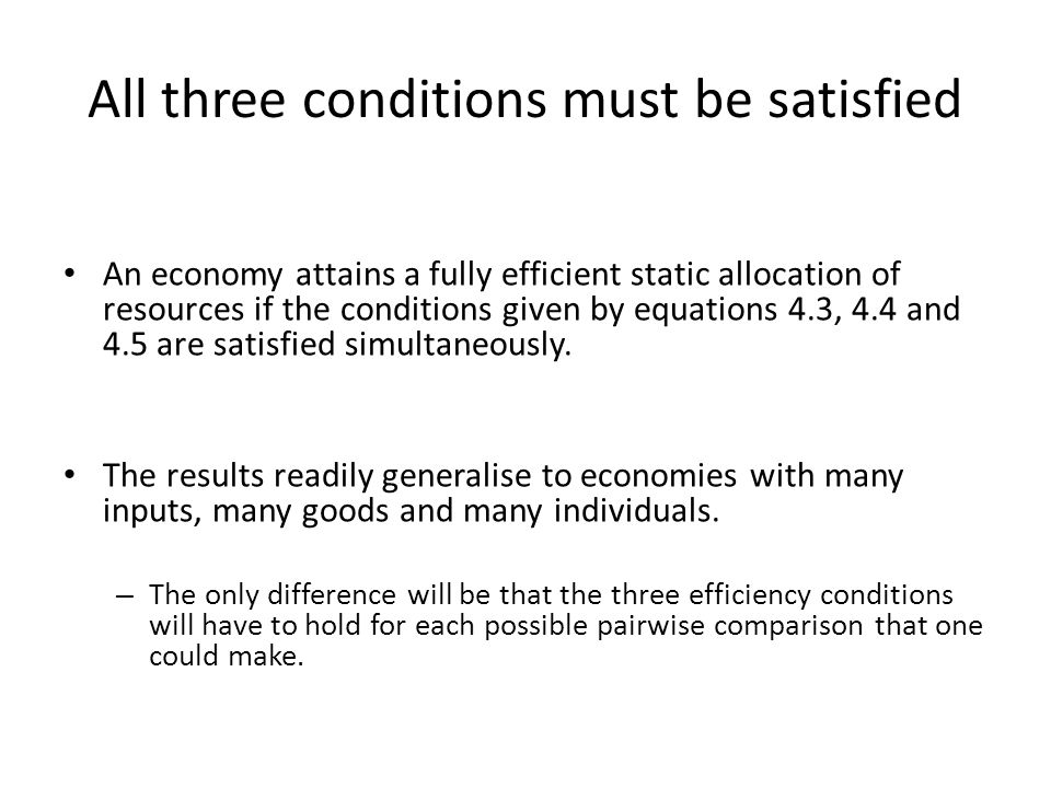 All three conditions must be satisfied