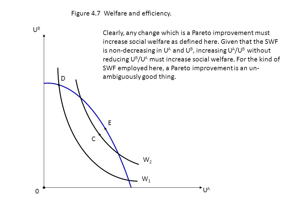 Figure 4.7 Welfare and efficiency.