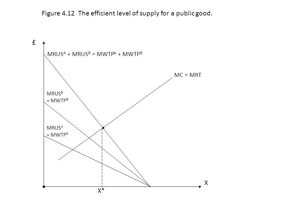 Figure 4.12 The efficient level of supply for a public good.