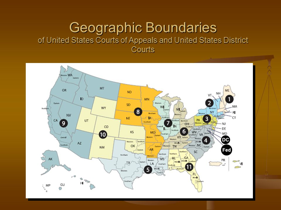 Geographic Boundaries of United States Courts of Appeals and United States District Courts