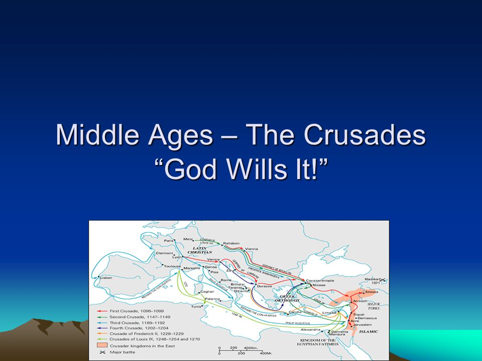 Middle Ages – The Crusades God Wills It!