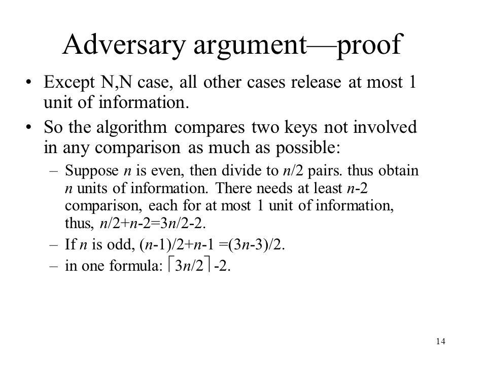 Adversary argument—proof