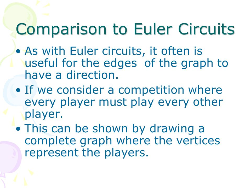 Comparison to Euler Circuits