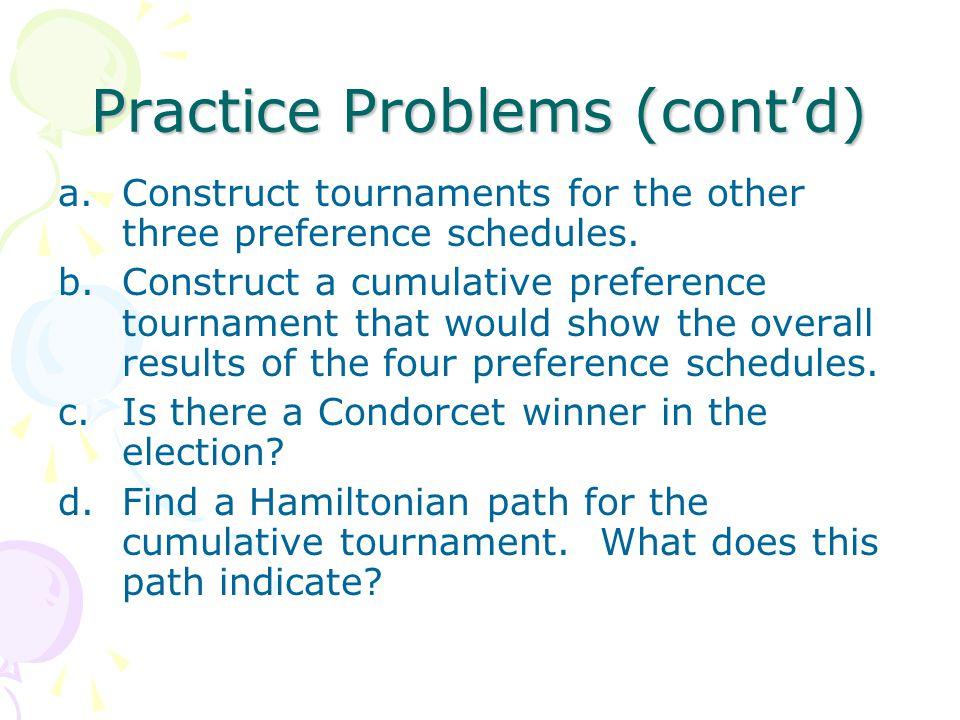 Practice Problems (cont'd)