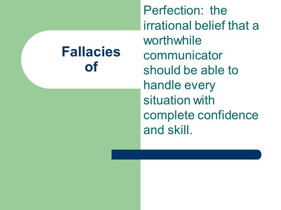 Fallacies of