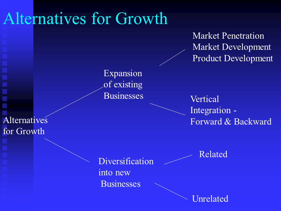 Alternatives for Growth