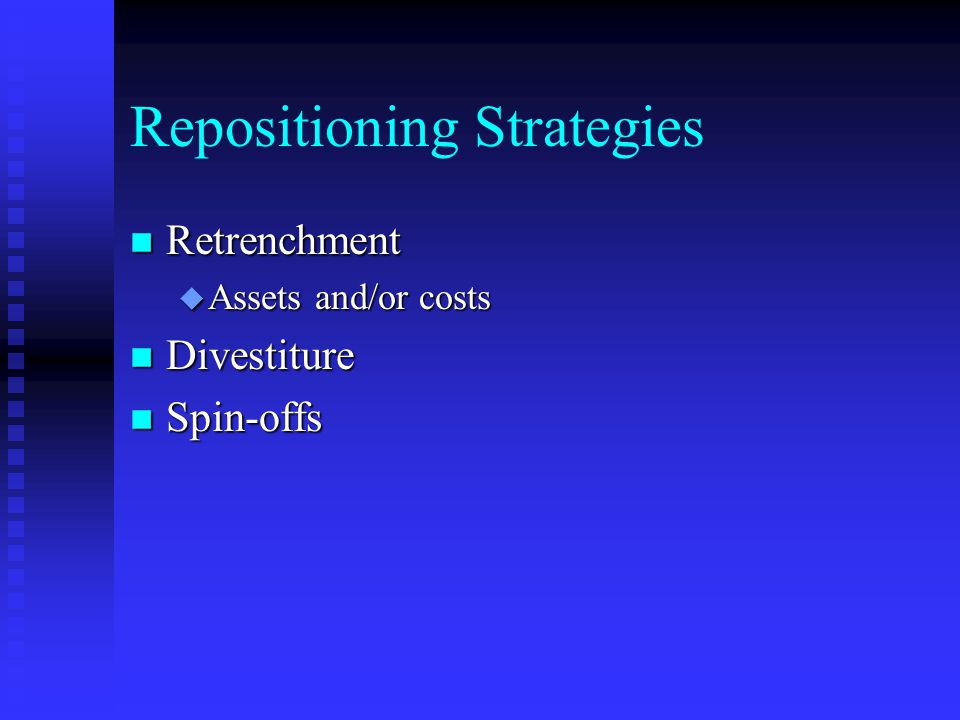 Repositioning Strategies