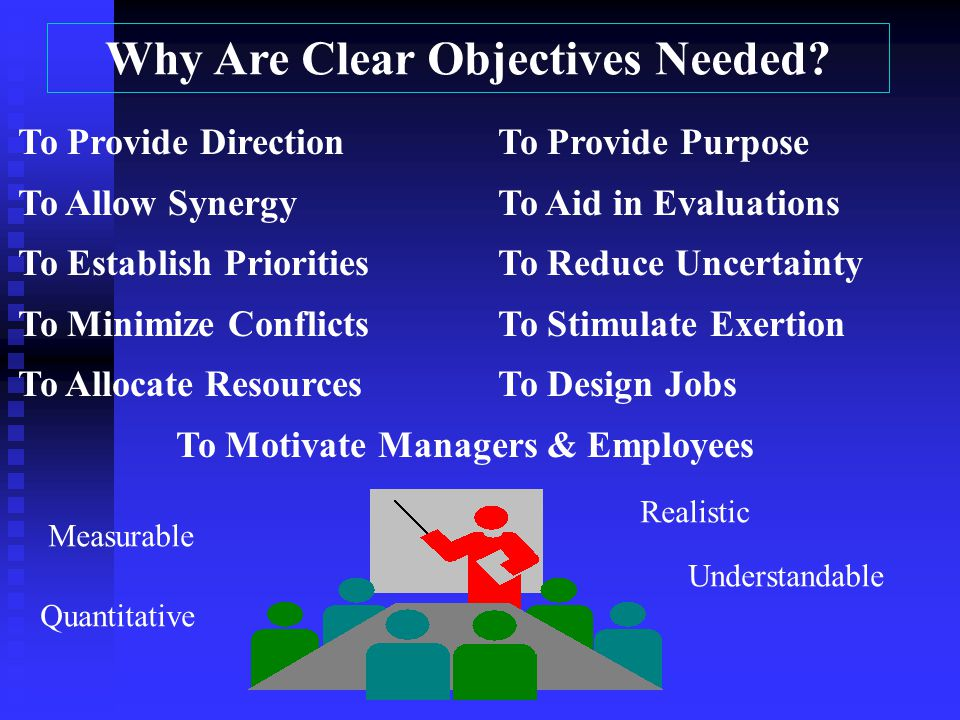 Why Are Clear Objectives Needed