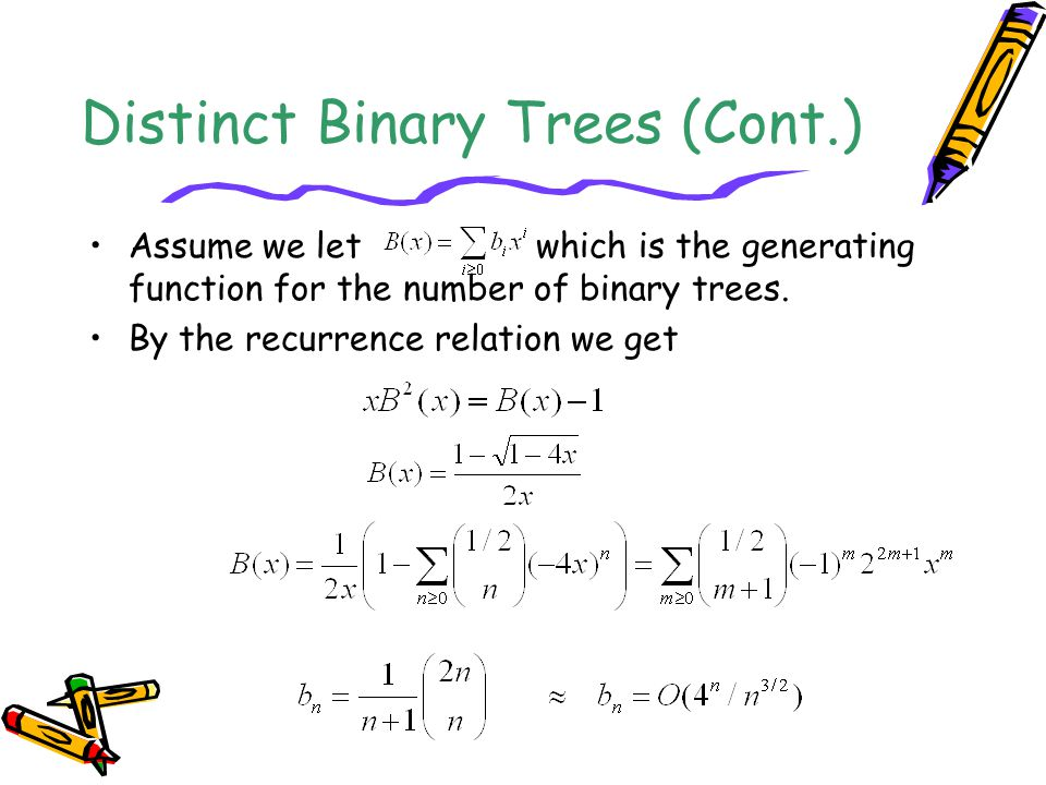 Distinct Binary Trees (Cont.)
