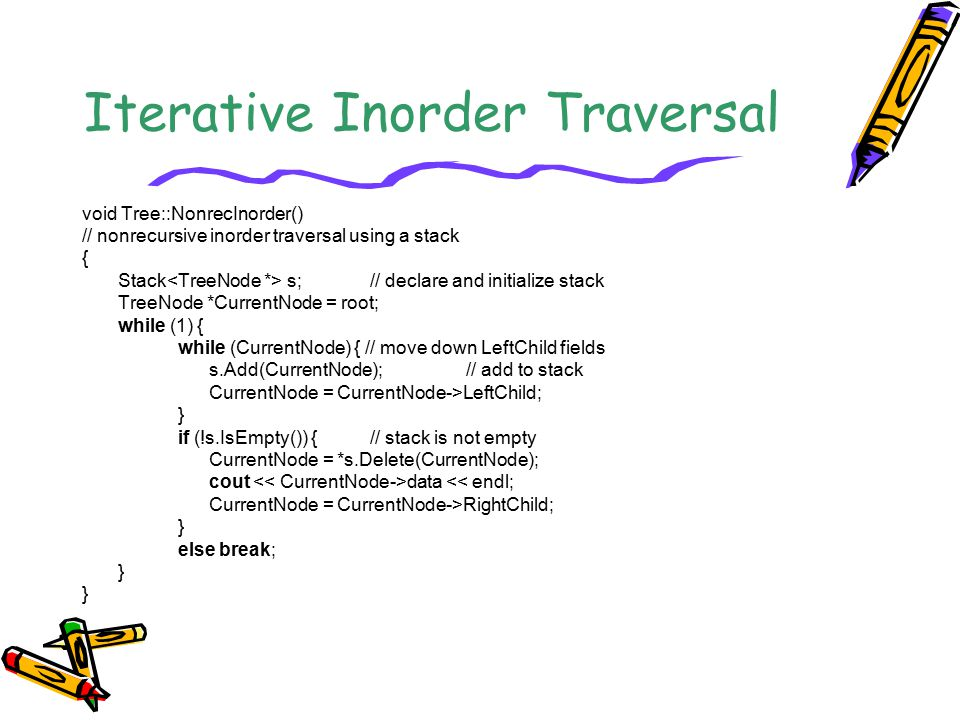 Iterative Inorder Traversal