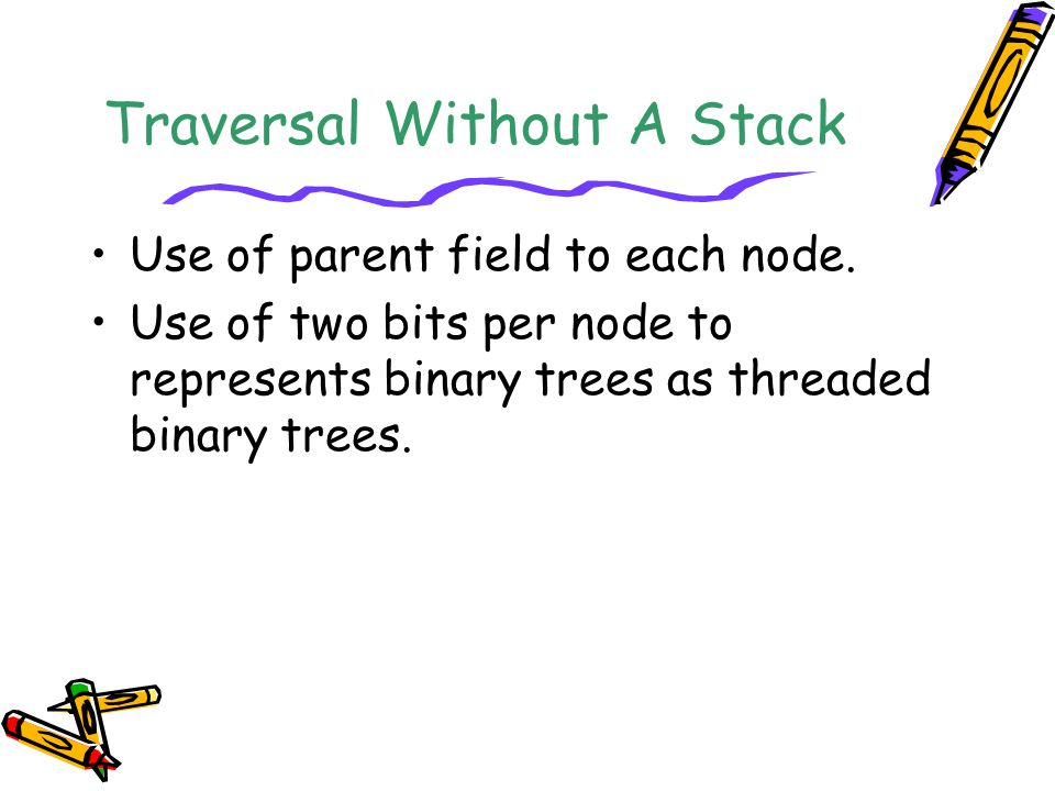 Traversal Without A Stack