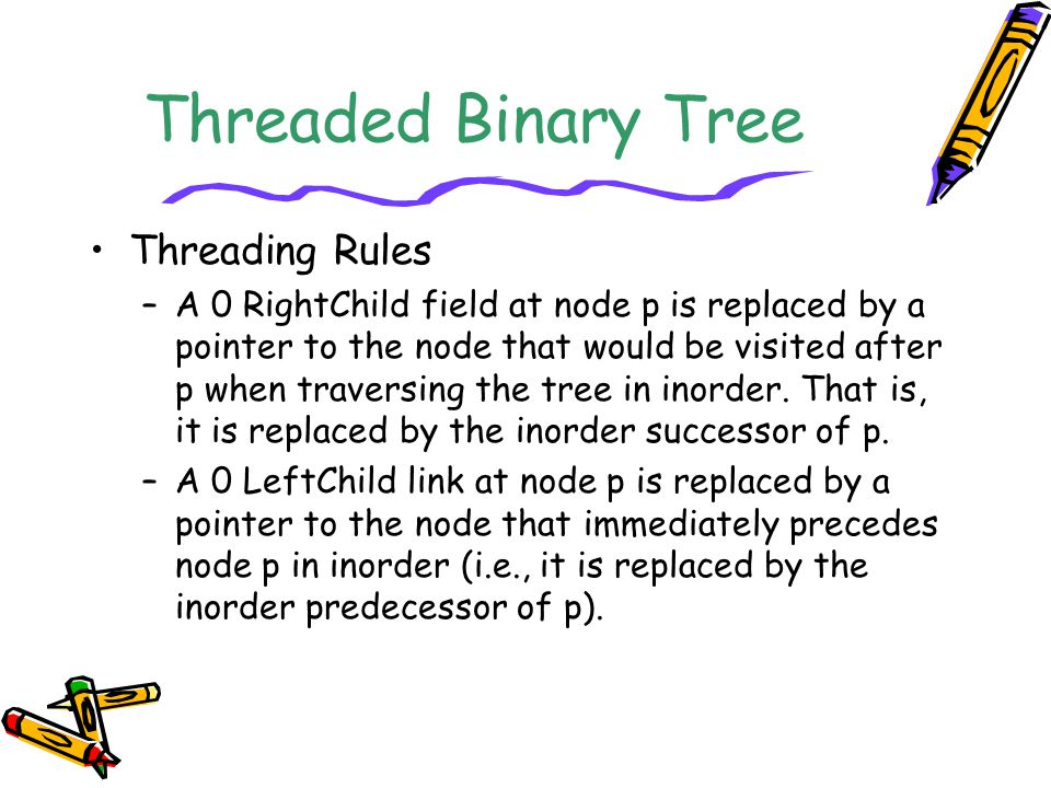 Threaded Binary Tree Threading Rules
