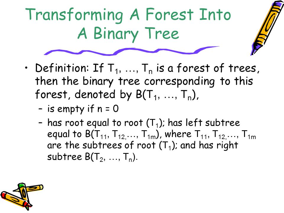 Transforming A Forest Into A Binary Tree