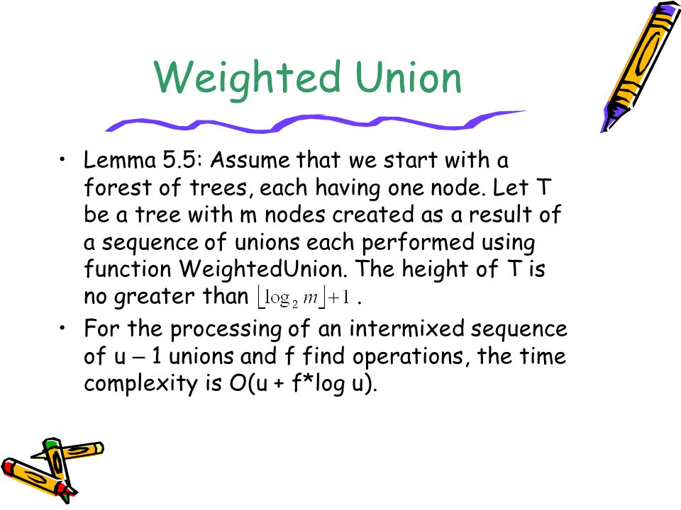 Weighted Union