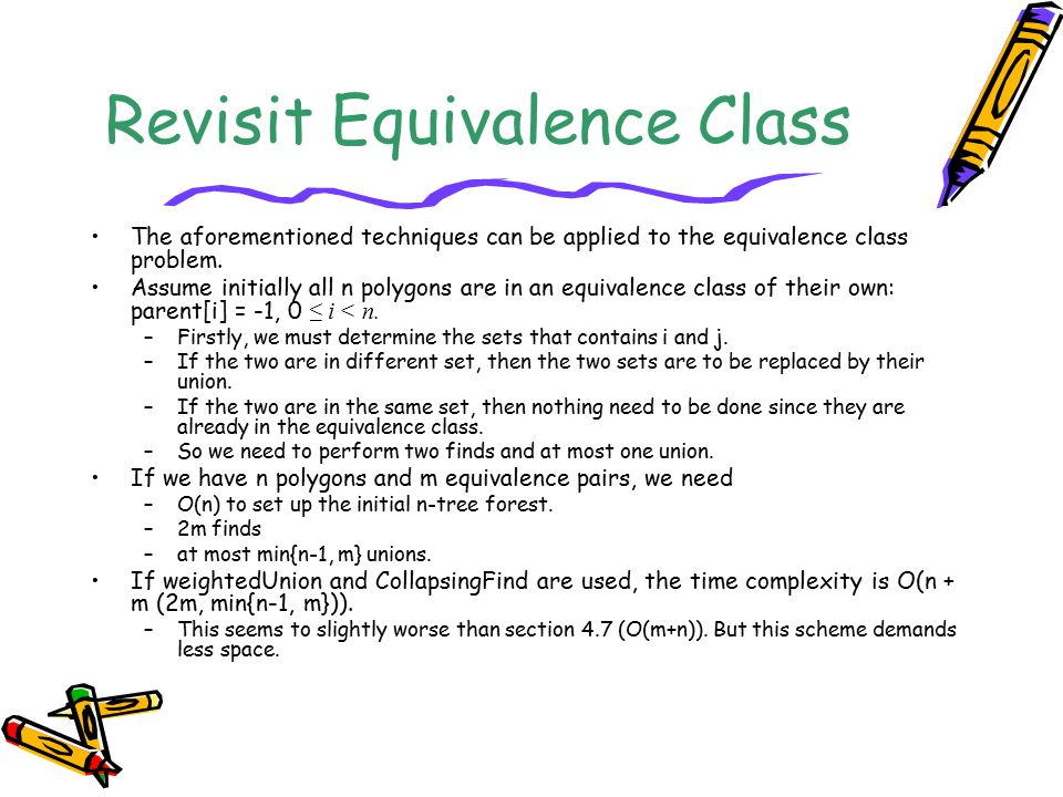Revisit Equivalence Class