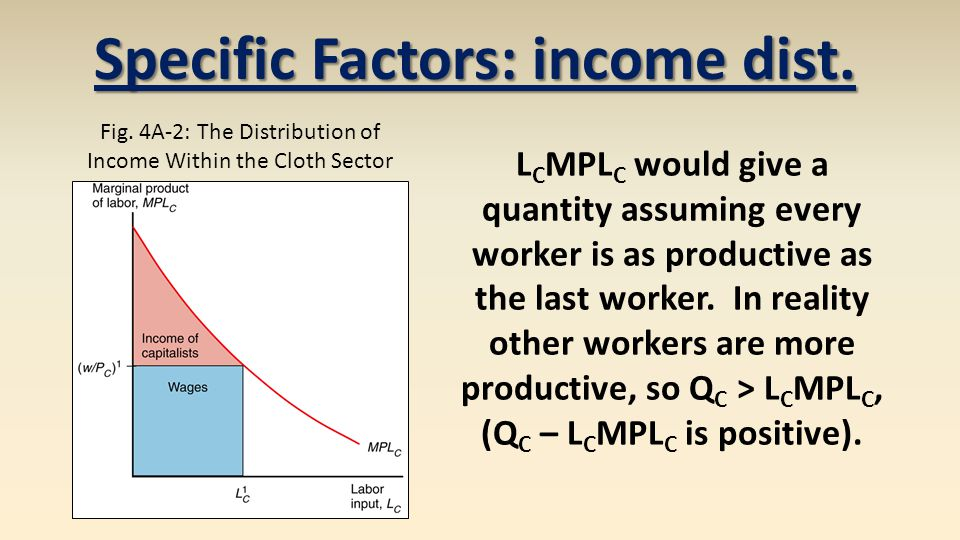 Specific Factors: income dist.