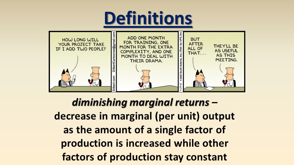 diminishing marginal returns –