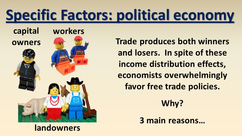Specific Factors: political economy