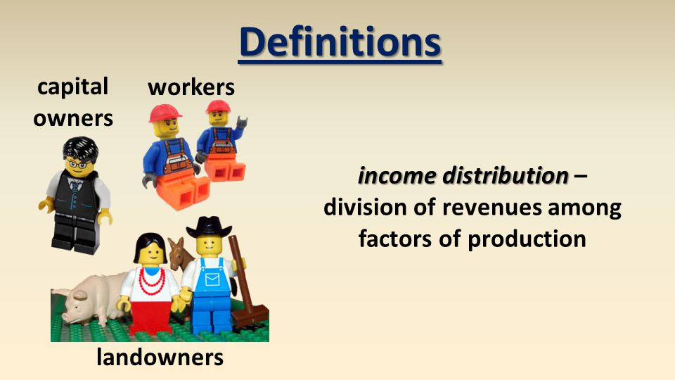 division of revenues among factors of production