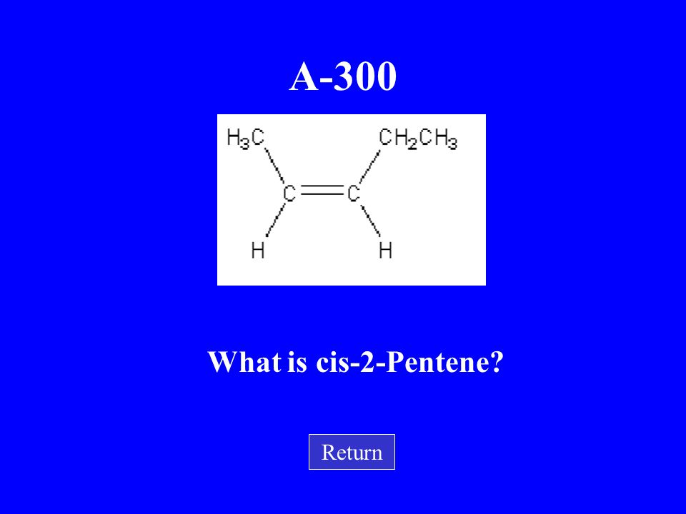 A-300 What is cis-2-Pentene Return