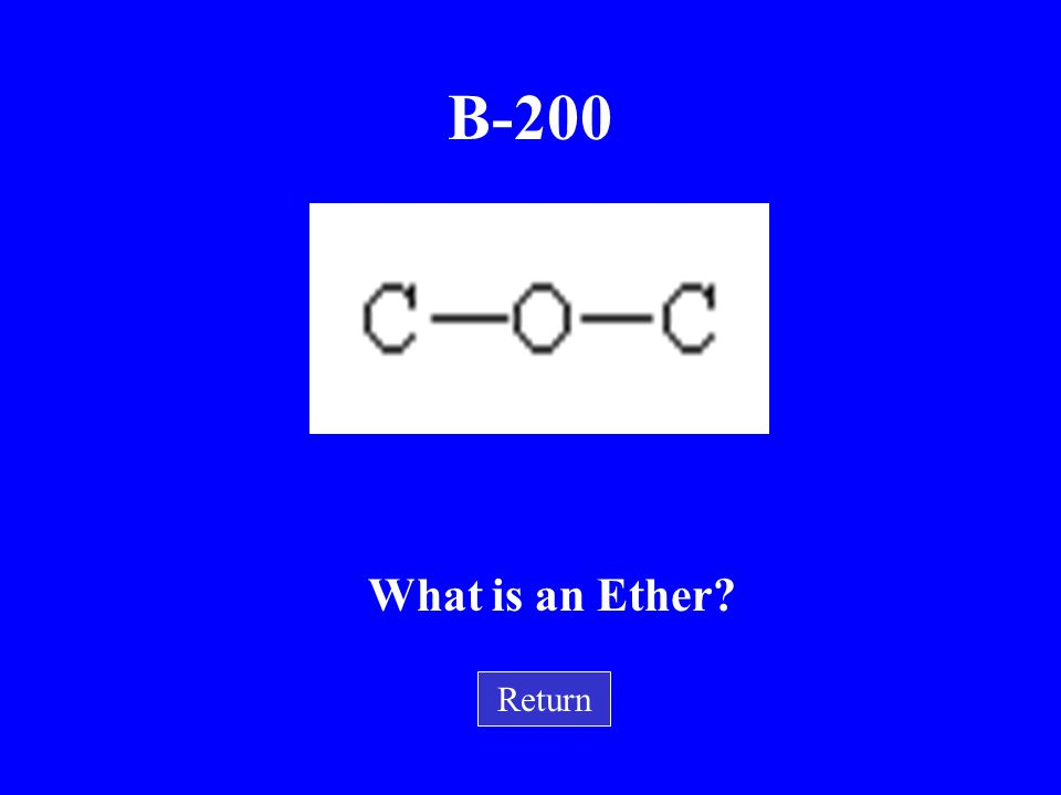 B-200 What is an Ether Return