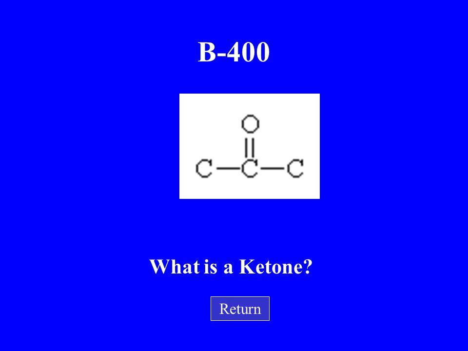 B-400 What is a Ketone Return
