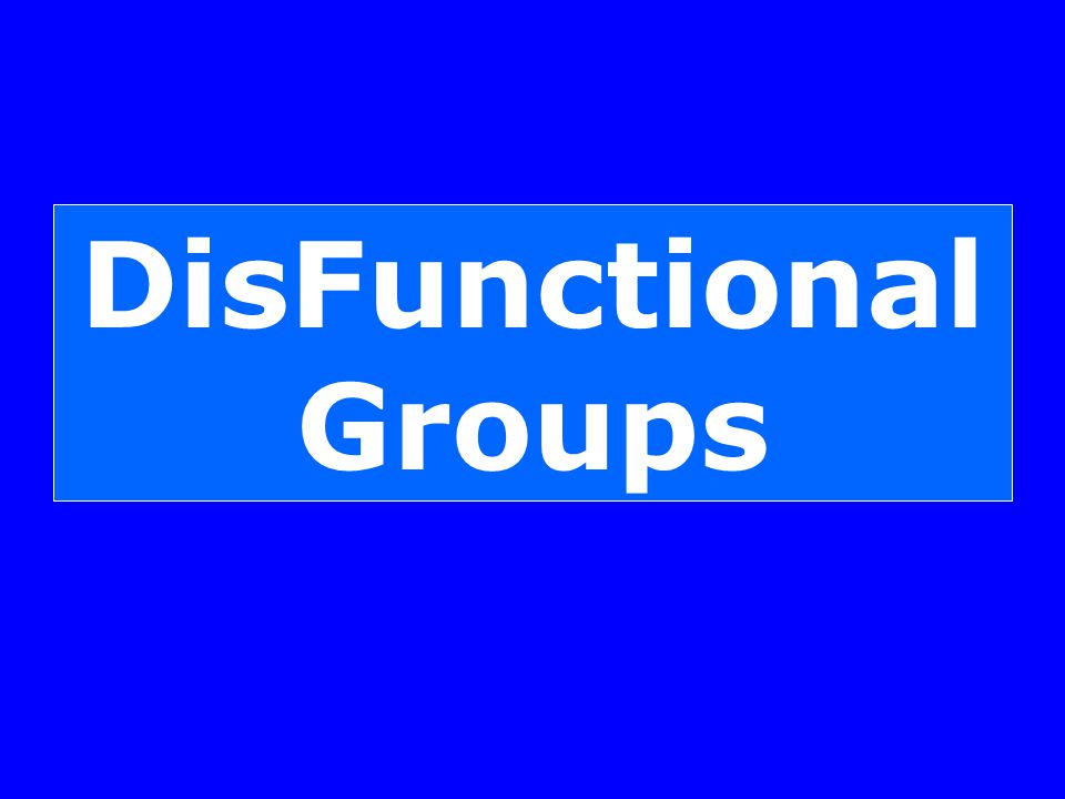 DisFunctional Groups
