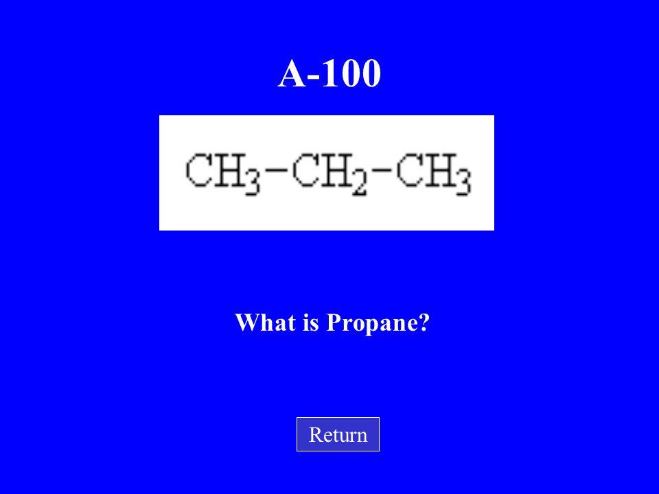 A-100 What is Propane Return
