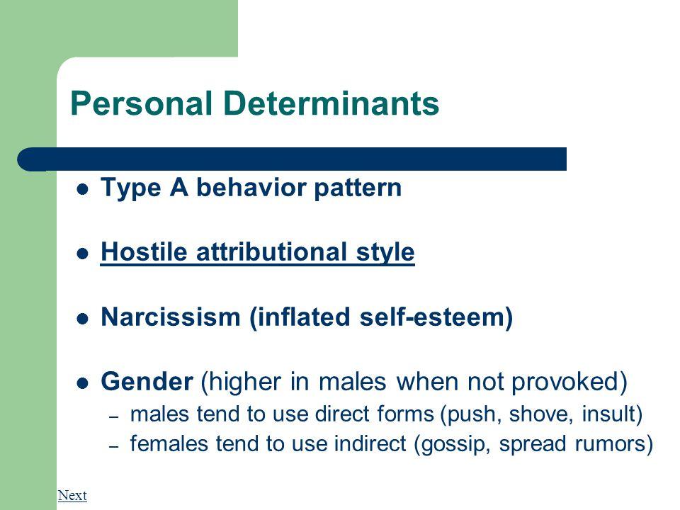 Personal Determinants