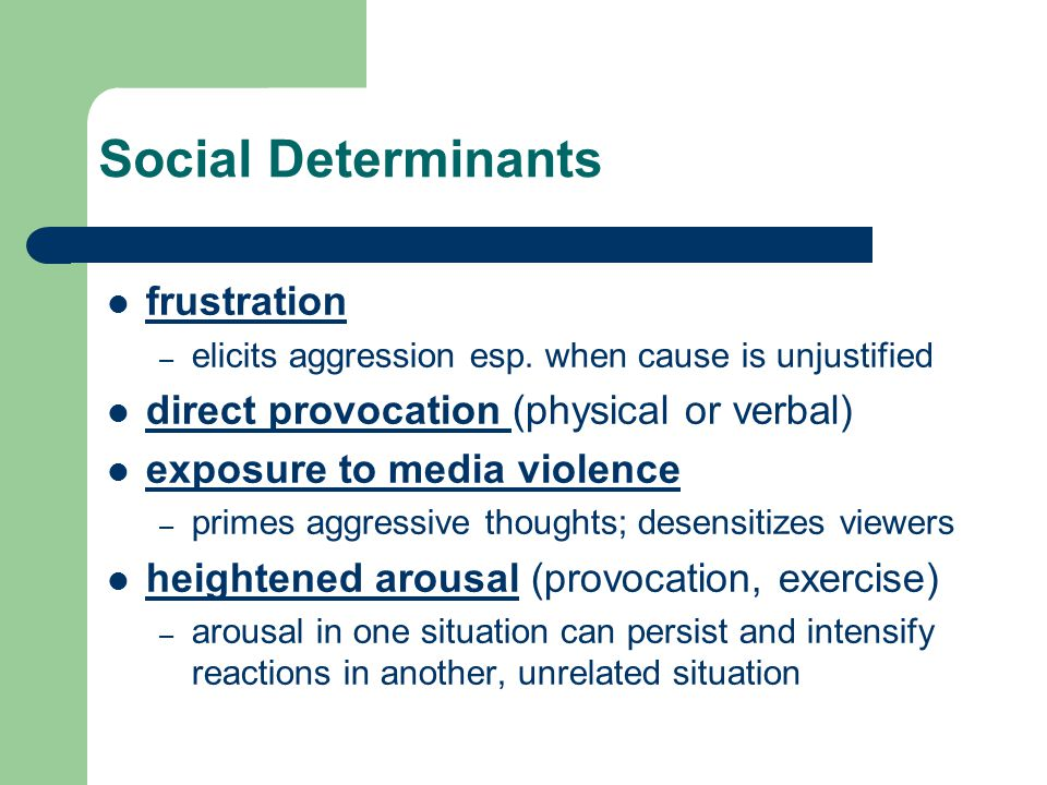 Social Determinants frustration