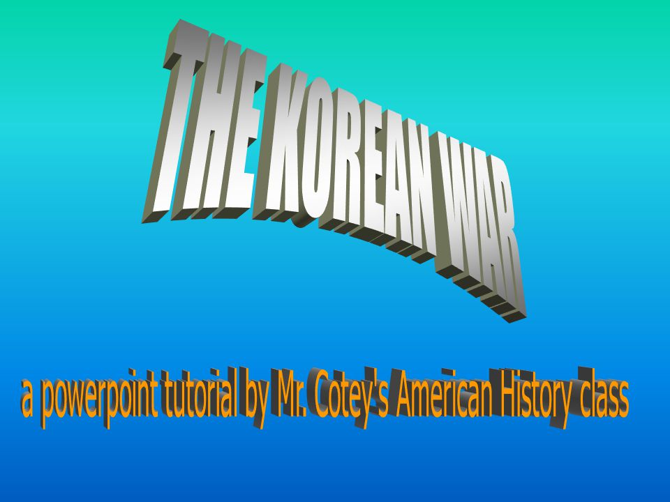 a powerpoint tutorial by Mr. Cotey s American History class