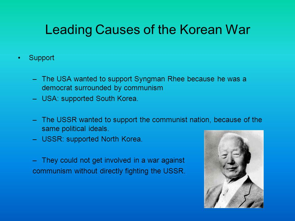 causes of korean war Find out more about the history of korean war, including videos, interesting  articles, pictures, historical features and more get all the facts on historycom.