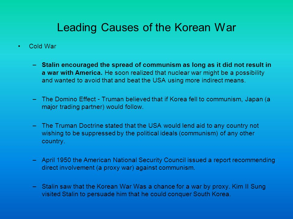What caused the korean war history essay