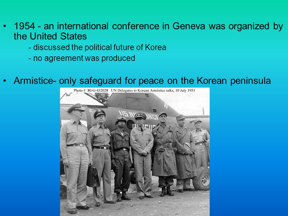Armistice- only safeguard for peace on the Korean peninsula