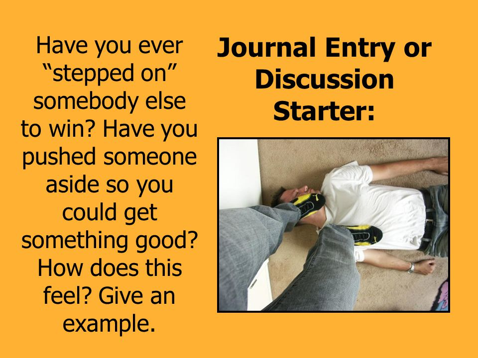 Journal Entry or Discussion Starter:
