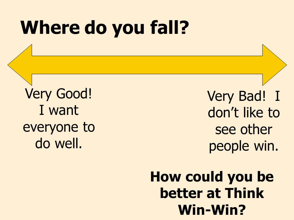 How could you be better at Think Win-Win