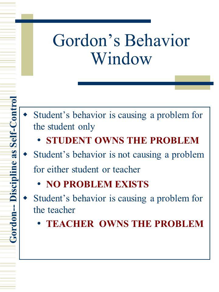 Gordon's Behavior Window