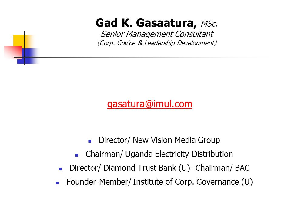 gasatura@imul.com Director/ New Vision Media Group