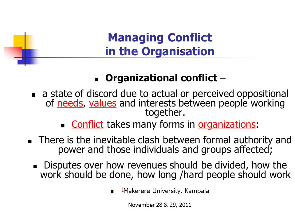 Managing Conflict in the Organisation