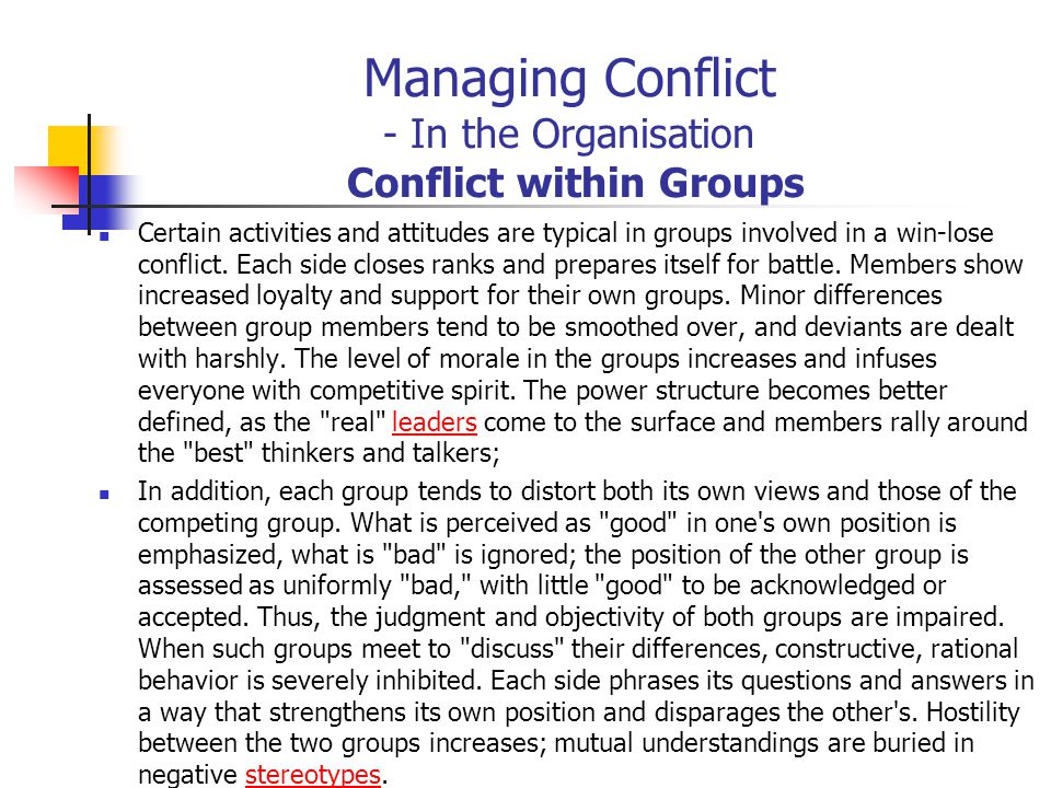 managing conflicts within groups Understanding conflict and conflict management   definition a team is a small group of people with complementary skills who are committed to a common purpose, performance goals, and.