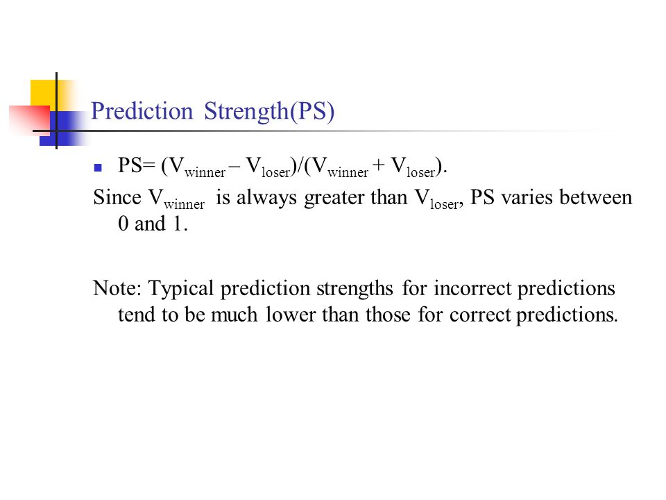 Prediction Strength(PS)