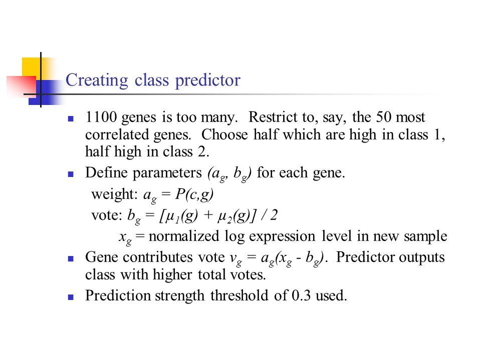 Creating class predictor