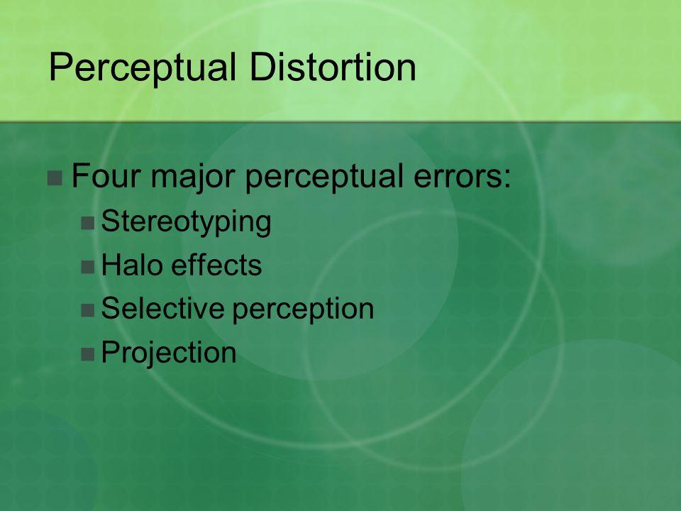 Perceptual Distortion