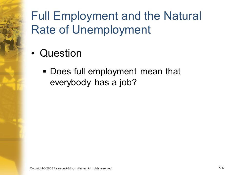 Full Employment and the Natural Rate of Unemployment