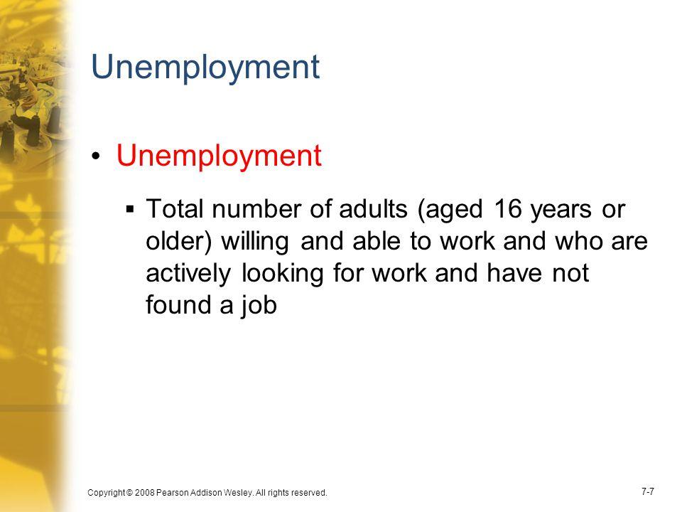 Unemployment Unemployment