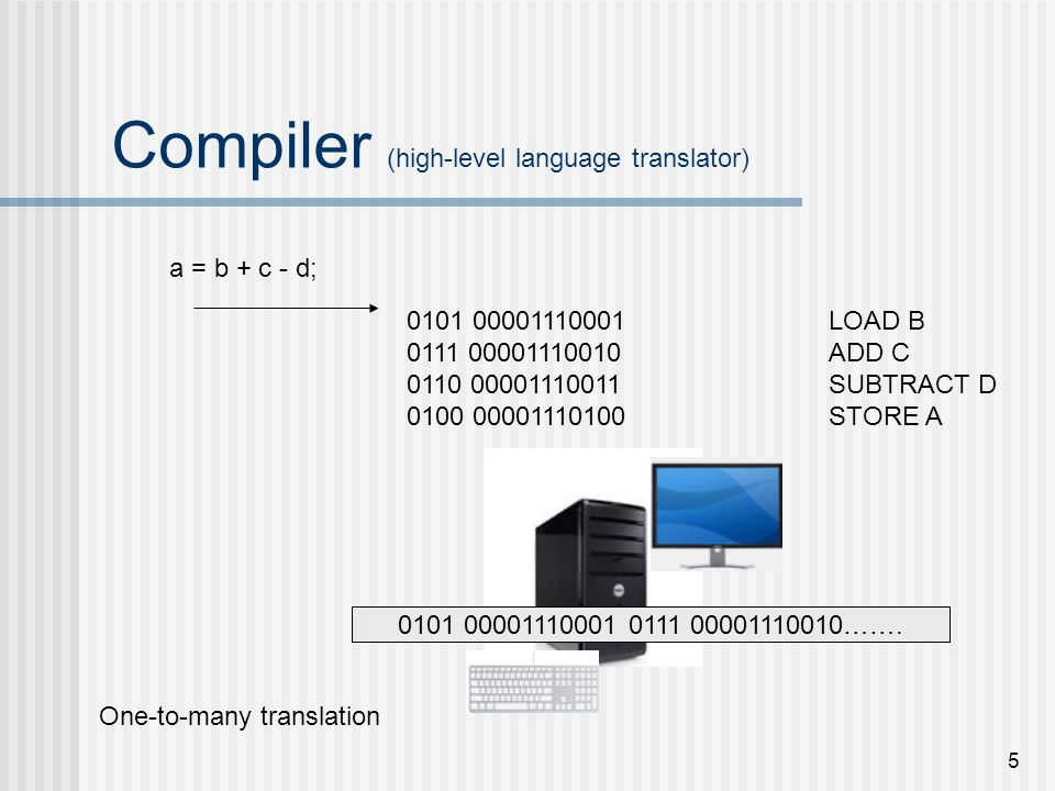 Compiler (high-level language translator)